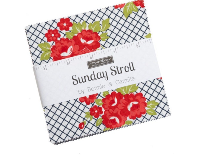 """Sunday Stroll 5"""" Charm Pack by Bonnie & Camille for Moda - 42 Pieces"""