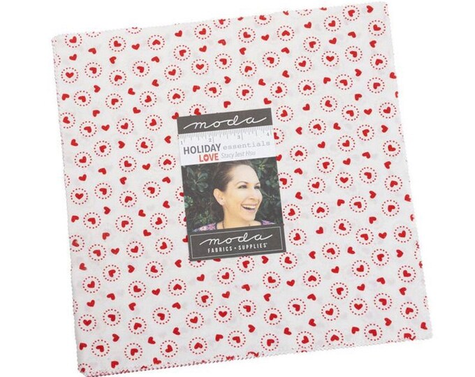 """Holiday Essentials Love 10"""" Layer cake by Stacy Iest Hsu for Moda - 42 Pieces"""