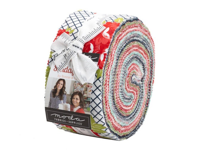 Sunday Stroll Jelly Roll by Bonnie & Camille for Moda - 42 Pieces
