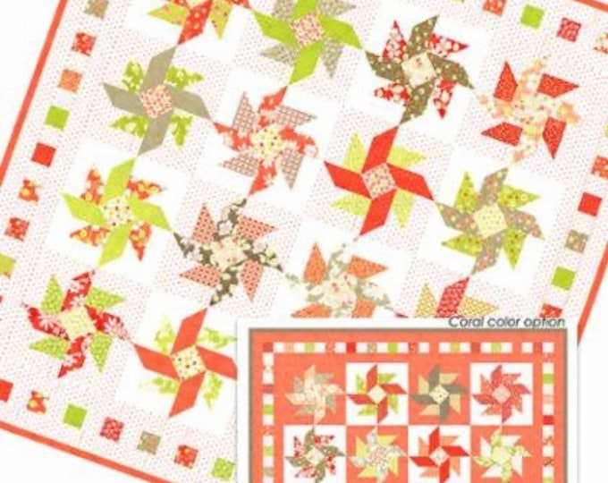 Strawberry Swirl Quilt Pattern from Fig Tree & Co