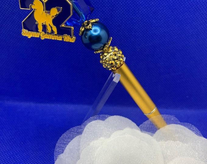 Sigma Gamma Rho Gold Leaf and Pearl Pen