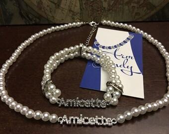 ZYA Amicette Necklace and Bracelet Set