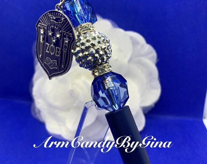 "Zeta Phi Beta True Blue ""Shield"" Collection Pen"