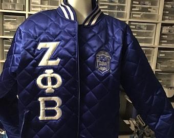 PRE-ORDER Quilted Zeta Phi Beta Satin Jacket