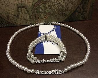 ZYA Archonette Necklace and Bracelet Set
