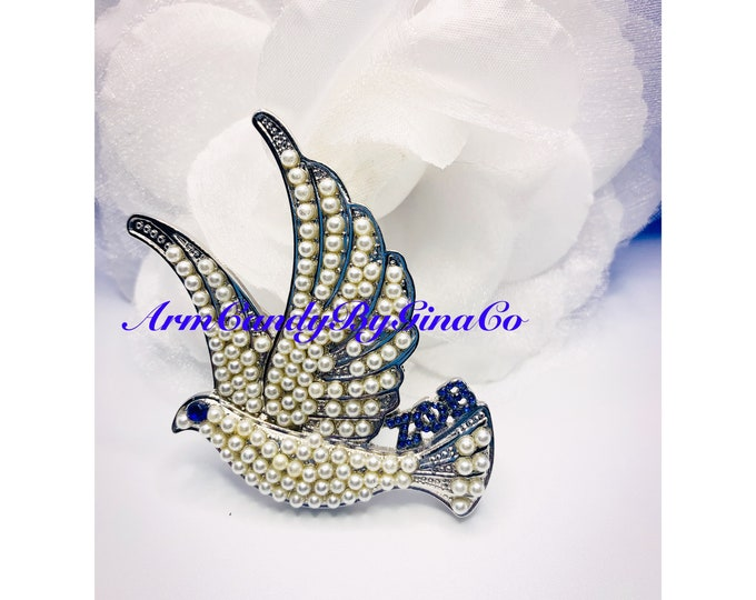 Zeta Dove Brooch