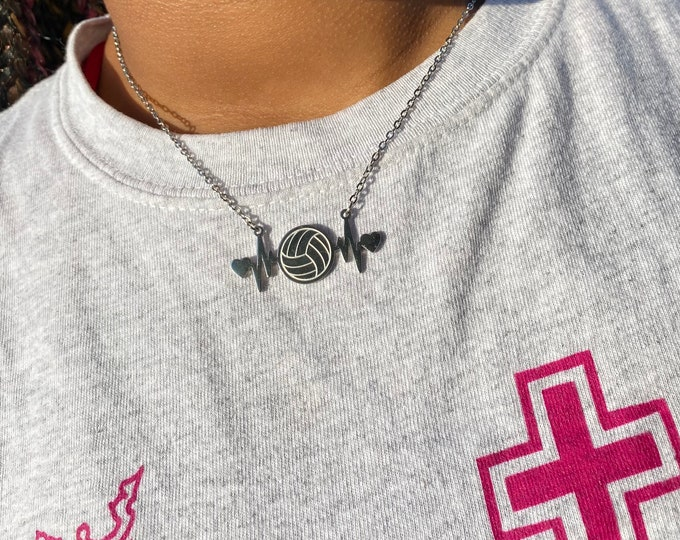 Volleyball Is LIFE Necklace and Anklet Set