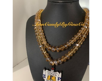 Sigma Gamma Rho Crystal Shield Necklace