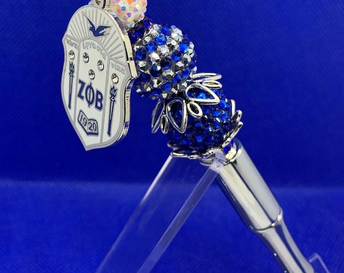 "Zeta Phi Beta White ""Shield"" Collection Pen"