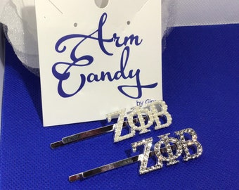 Zeta Phi Beta Hair Clips