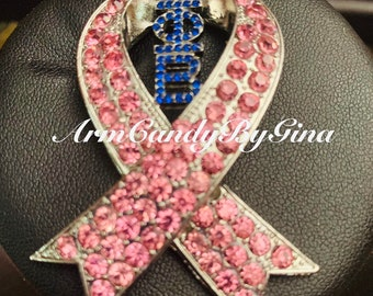Zeta Phi Beta Breast Cancer Awareness Pin