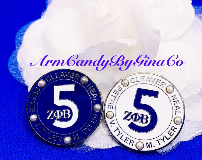 ZPhiB Five Pearls Lapel Pin