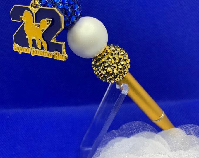 Sigma Gamma Rho Blue and Gold Ball Pen