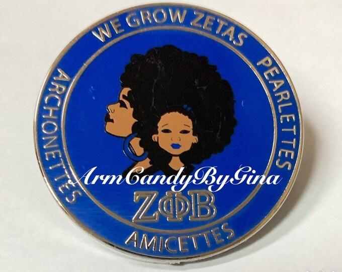 We Grow Zetas Pin