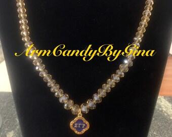 Sigma Gamma Rho Crystal Necklace