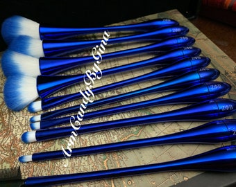 10 Piece Zeta Phi Beta Makeup Brush Set