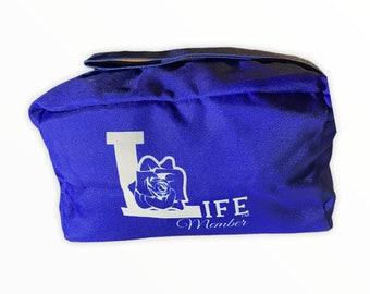 Zeta Phi Beta Life Member Cosmetic Bag