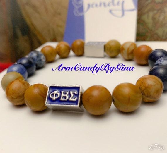 Phi Beta Sigma Stone Bracelet