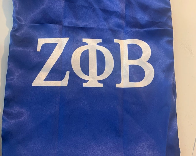 Zeta Phi Beta Satin Shoe Bag