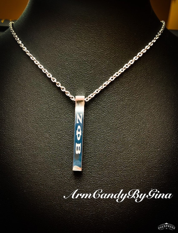 Zeta Phi Beta Sorority, Incorporated Bar Necklace