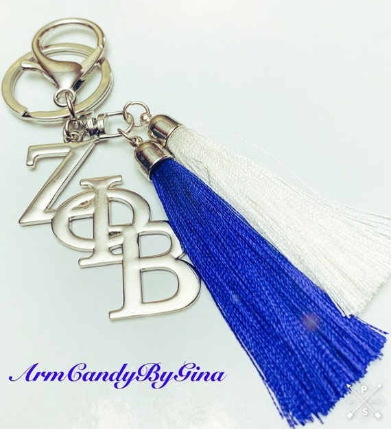 ΖΦΒ Inspired Key Chain