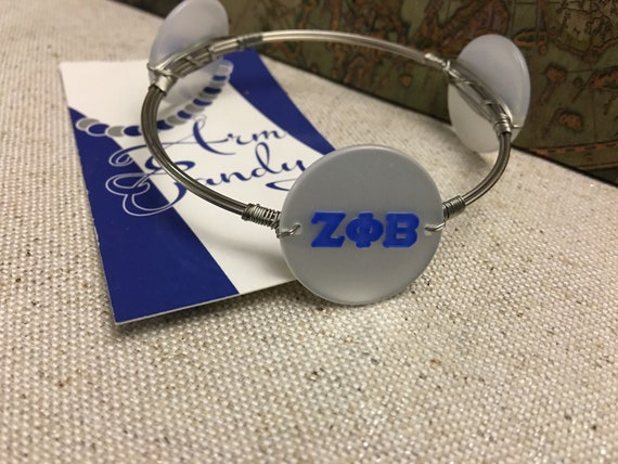 ZPhiB Stainless Steel Acrylic Disc Bangle