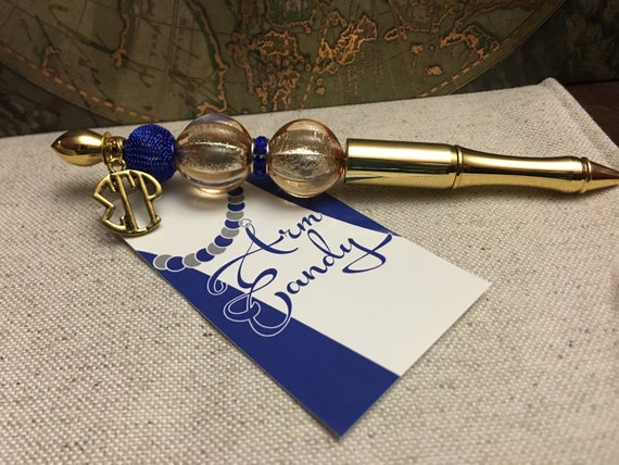 Royal Blue and Gold Pen