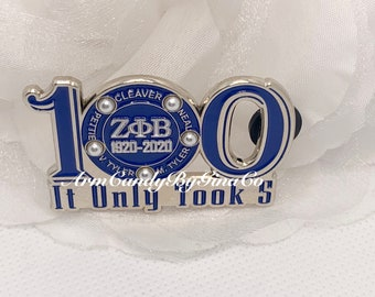 It Only Took 5 100 Lapel Pin