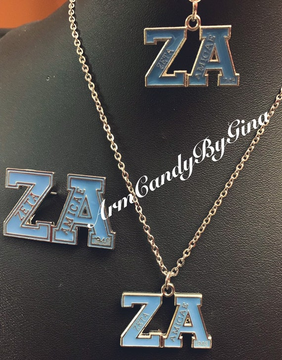 Zeta Amicae Necklace, Bracelet and Pin Set