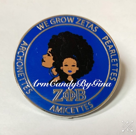 We Grow Zetas Pin