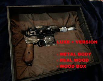 Star WOOD BOX + Luke DL-44 Blaster prop! Cosplay collection 1/1