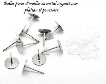 Set of 15 pairs of Silver earrings