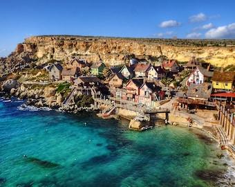Popeye's Village, Malta, Popeye, Beautiful Architecure, Cartoons, Malta Photography, Island Photography