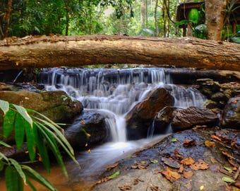 Waterfall at Wat Palad, long exposure, thailand photography, thailand, chiang mai, chiang mai photography, stream, temple, nature, landscape