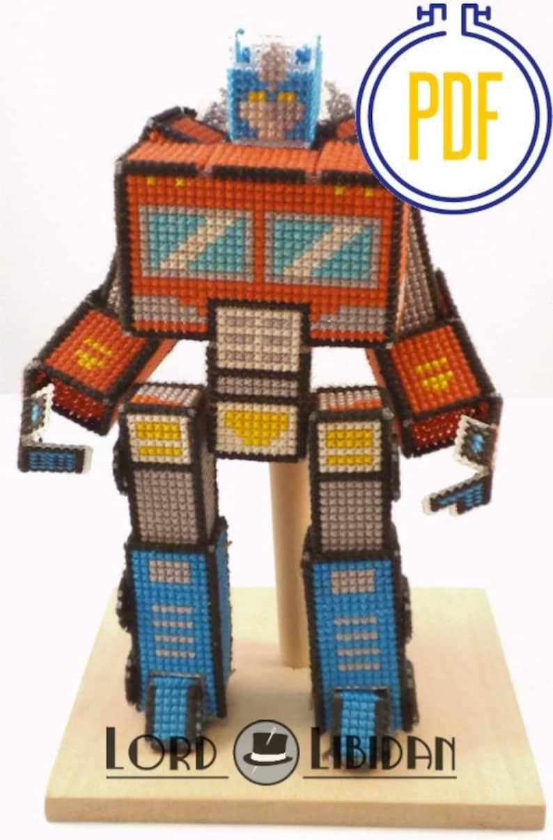 3D Transforming Robot Cross Stitch Pattern image 0