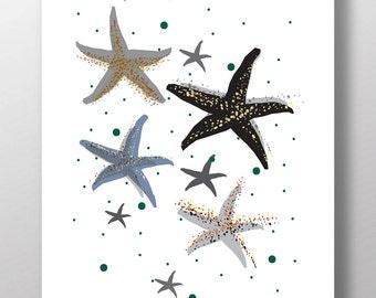 Printable nautical prints, nautical wall art, printable posters, beach art, coastal art, corals, Sea shell digital print, nautical art 8X10
