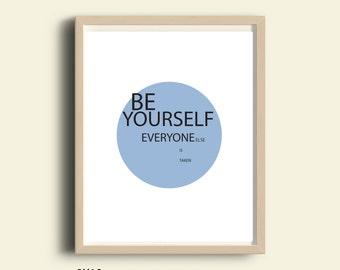 Instant download printable art, motivational quote Print, modern minimalist print, digital download printable quote, Inspirational wall art