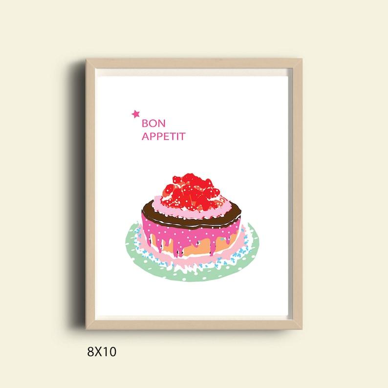 Pop Art Home Print Gift Abstract Bon Appetit