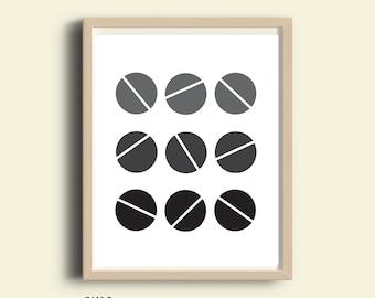 Circle wall art, neutral print, minimalist prints, home decor, geometric art, abstract art, downloadable art, printable wall art, wall decor