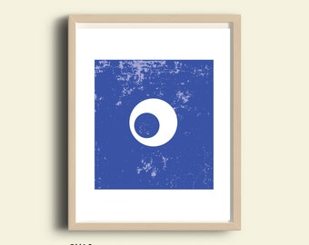 Blue abstract artwork,PRINTABLE minimalist print, home decor print, wall decor print, office art, graphic wall art, vertical art print, 8x10