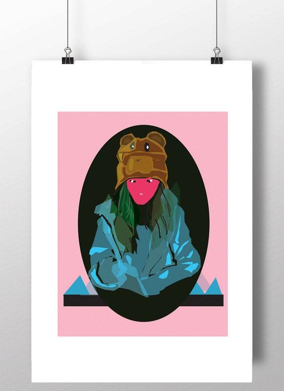 Wystrój Pokoju Nastolatki Plakat Do Wydrukowania Fajne Plakaty Fajny Plakat Do Wydrukowania Hipster Sztuki Wystrój W Akademiku Sztuka Pokoju W