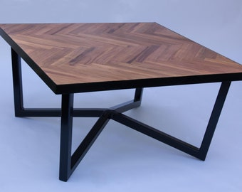 Merveilleux Coffee Table / Herringbone Pattern / Wooden Table / Low Table / Small Table,  Table / Living Room Table / Low Table, Plum Wood
