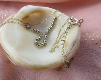 Silver necklace yellow gold plated