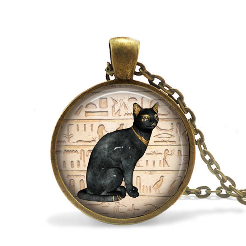 Goddess Bastet Pendant / Ancient Kemet / Cat Necklace / Goddess Bastet /  Handcrafted / Gift for friend / Bastet - Protector of Cats / Bast