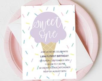 Sweet One Birthday Invite
