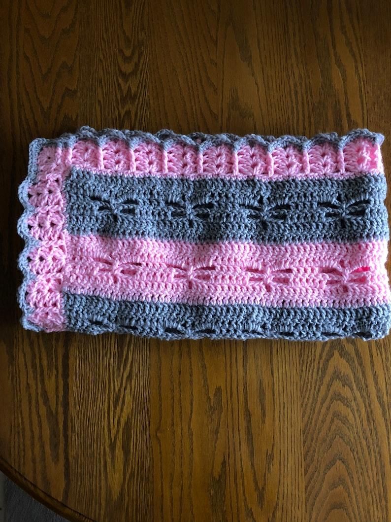 Handmade Crochet Babystroller Blanket Available In Other Etsy