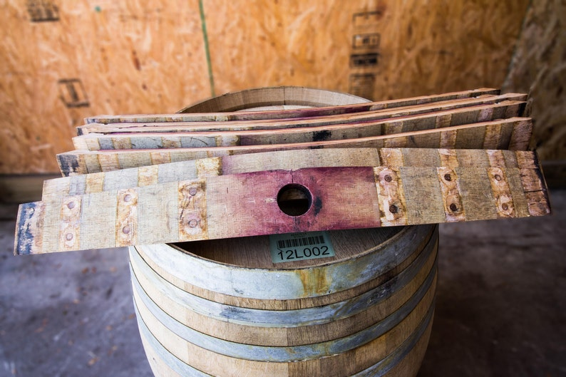 Wine Barrel Staves - Set of 10 (FREE SHIPPING)