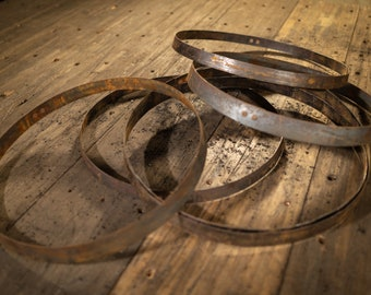 Whiskey Barrel Rings/Bands (Set of 6) - FREE SHIPPING