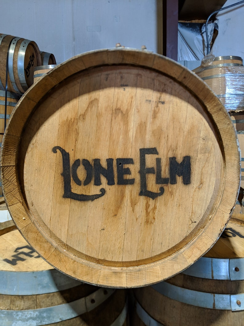 Freshly Emptied 5 Gallon Whiskey Barrel