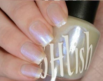 """Unique """"Bending The Truth"""" Opalescent Blue Nail Polish Full Size 15ml Bottle"""